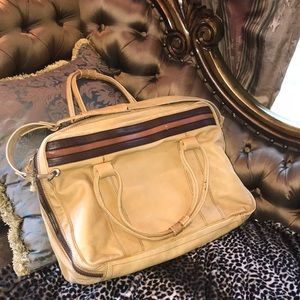 Cool 70's leather portfolio briefcase bag